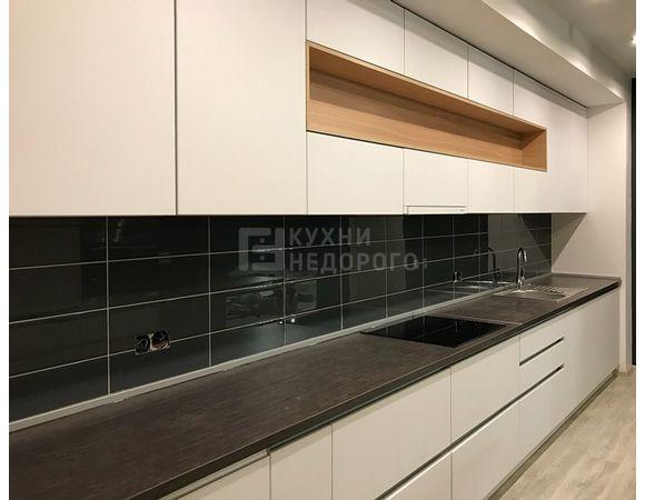 Кухня в стиле модерн узкая
